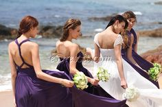 Convertible purple bridesmaid dresses! #edressit #bridesmaid dresses #purple