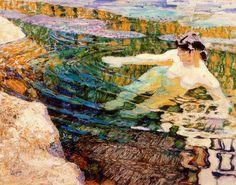 Frantisek Kupka - Water. The Bather., 1907
