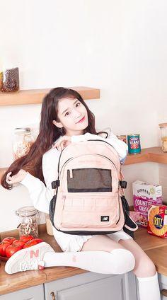 Latest KPop News for all KPop fans! Cute Korean, Korean Girl, Asian Girl, Iu Fashion, Korean Fashion, Mochila Kpop, Iu Twitter, New Balance Outfit, J Pop