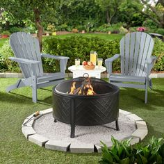 63 easy and cheap fire pit and backyard landscaping ideas 27 Fire Pit Backyard, Backyard Patio, Backyard Landscaping, Fire Pit On Pavers, Fire Pit Landscaping Ideas, Fire Pit On Grass, Houston Landscaping, Inexpensive Landscaping, Landscaping Edging