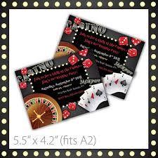Image result for casino theme invitations