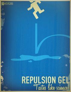 Very Cool Retro Portal 2 Posters