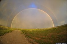 Full double rainbow, Lander, Wyoming, July 18, 2012