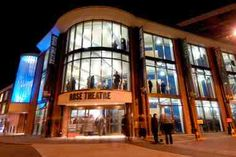 The Rose Theatre, Kingston is a theatre on Kingston High Street in the Royal Borough of Kingston upon Thames. The theatre seats 899 around a wide, thrust stage.  It officially opened on 16 January 2008 with Uncle Vanya by Anton Chekhov, with Sir Peter Hall directing. Hall had also directed an 'in the raw' production of As You Like It within the shell of the uncompleted building in December 2004.  The Rose is supported by Royal Borough of Kingston and Kingston University London. Kingston Town, Kingston University, Kingston Upon Thames, Outdoor Theater, Theater Seating, Anton Chekhov, Greater London, England, Street