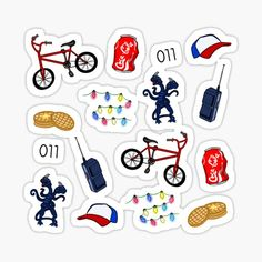 Stranger Things stickers featuring millions of original designs created by independent artists. Stranger Things Actors, Stranger Things Aesthetic, Stranger Things Netflix, Journal Stickers, Laptop Stickers, Planner Stickers, Printable Stickers, Cute Stickers, Aesthetic Phone Case