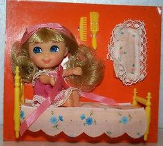 VINTAGE-MATTEL-Liddle-Kiddle-Beddy-Bye-Biddle-1967-never-removed-from-card