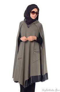 Kadin, Moda, Sağlık, Örgü, Hobi SözKadinda.Com: Tesettür Panço Modelleri 2016 Modest Fashion Hijab, Hijab Chic, Abaya Fashion, Muslim Fashion, Fashion Outfits, Womens Fashion, Habits Musulmans, Modele Hijab, Muslim Dress