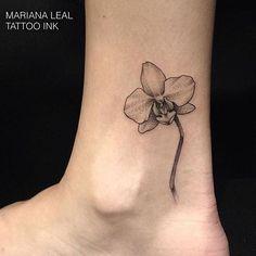 orquidea tattoo preto e branco - Pesquisa Google