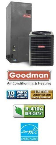 4 Ton 16 Seer Goodman Air Conditioning System - SSX160481 - AVPTC42601 by Goodman. $2259.00. Single Stage Air Conditioner with Variable Speed Blower (R-410A) - Cooling Only split air conditioning system. Includes condenser and air handler. Not a heat pump. Supplimental electric heat strips can be added to air handler to provide electric heat (sold seperately).. Save 29%!