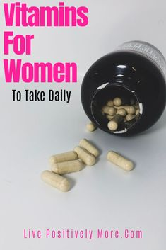Vitamins For Women To Take Daily To Help With Weight Loss, Fitness, And Health Goals! Weight Loss Plans, Weight Loss Program, Best Weight Loss, Weight Loss Tips, Lose Weight, Vitamins For Women, Daily Vitamins, Natural Fat Burners, Healthy Diet Plans