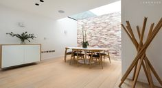 Dining area scandinavian style dining room by landmass london scandinavian Dining Area, Dining Room, Side Return Extension, Holland Park, Maximize Space, Open Plan Living, Scandinavian Style, Ground Floor, Home And Family