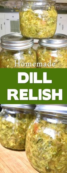 So much better than store bought. This dill relish canning recipe is delicious and super easy. Great way to use up cucumbers.