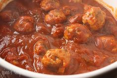 Skinny Italian Turkey Meatballs - these are healthy and low in points! #healthy