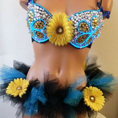 Blue el wire outfit https://www.etsy.com/listing/189174925/blue-el-wire-rave-outfit-with-yellow