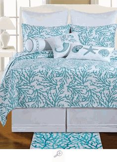 Cora Blue Bedding Quilt Set