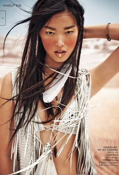 Vogue China March 2015 | Tian Yi by Jem Mitchell [Beauty]
