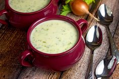 30-Minute Cream of Broccoli Cheese Soup - a hug in a bowl!