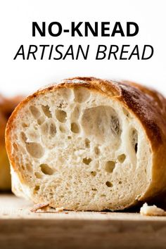 Homemade Artisan Bread Bread beginner's homemade artisan bread recipe using only 4 ingredients with no mixer or special pans required! Bake on a baking sheet. Soft and chewy with a slightly crispy crust and excellent flavor! Artisan Bread Recipes, Yeast Bread Recipes, Bread Machine Recipes, Cornbread Recipes, Jiffy Cornbread, Beginners Bread Recipe, Bread Recipe Video, Chewy Bread Recipe, Bread Dough Recipe