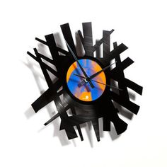 Big Bang Clock - recycled vinyl album on Fab.com made by Disc'O'clock