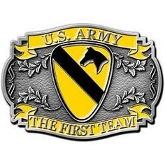 US Army 1st Cavalry Division Belt Buckle - US Military Marketplace