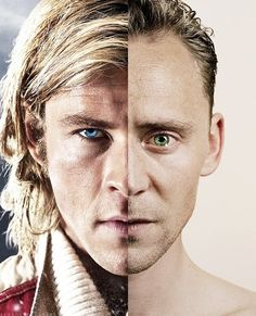 "A literal merging of the actual faces of Thor and Loki. Through almost a perfect aligning of the two individual faces, fans suggest the concept of two but one. The singularity that looks very ""natural"" though the addition of the divided faces are an unnatural process. The image shows how one side must exist with the other or else the face wouldn't be complete."