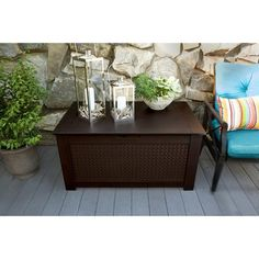 Rubbermaid® Patio Chic™ Storage Bench Deck Box