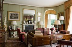 Perfect everything....cozy, collected, lived in....one of my favorite rooms ever (Suffolk - Todhunter Earle Interior Design)