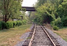 The Huntingdon  Ttop Mountain Railroad near US 22 in Huntingdon, PA, facing southwest. Photo by Mike Palmer, May 2005 via www.abandonedrails.com