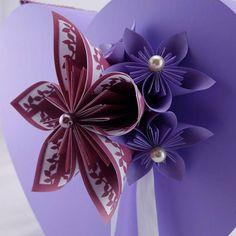 urne mariage violet en bois