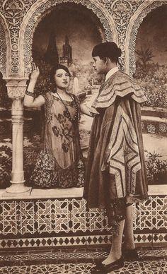 The Vintage Prophecy Postcards… Spanish Andalusian Romance Torero Bullfighter Flirty Flamenco Dancer Moorish Spain Sevilla Granada… RARE Spain Fashion, Granada Spain, Spanish Art, Flamenco Dancers, Moorish, Vintage Love, Wedding Designs, 1920s, The Twenties