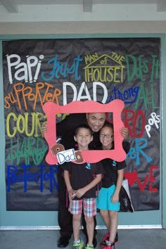 Donuts with Dads photo op with frame! Love this Dad!! ❤️