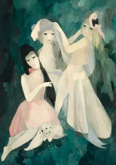 By Marie Laurencin (1885-1956), 1924, In the Park, oil on canvas, National Gallery of Art.