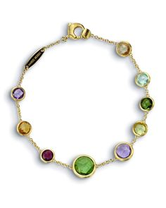 Marco Bicego Jaipur 18K Gold Mixed Semiprecious Stone Bracelet, 7