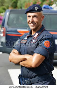Portrait of Italian special military police force carabinier on duty - stock photo hendrik
