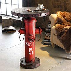 Cool Beistelltisch Fireplug rotbraun Bistrotisch Stehtisch Bartisch Wohnzimmertisch in M bel u Wohnen M bel