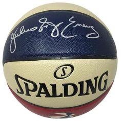 eae26e280 Julius Dr. J Erving Signed ABA Spalding Ofiicial Authentic ABA Basketball  JSA
