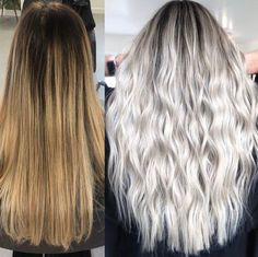 Wet Balayage Can Become Your Go-To When Highlighting Short Hair - Color - Modern Salon Cool Blonde Hair Colour, Blonde Hair Looks, Icy Blonde, Bright Blonde, Balayage Hair Blonde, Brown Blonde Hair, Hair Color, Gray Hair, Super Blonde Hair
