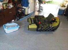 Pvc fish finder mount for float tube fish outcast fish for Float tube fish finder