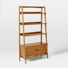 Buy Acorn west elm Mid-Century Wide Bookshelf from our Bookcases, Shelving Units & Shelves range at John Lewis & Partners. Mid Century Bookshelf, Modern Bookcase, Midcentury Bookcases, Office Bookshelves, Bookcase White, Office Desks, Plywood Furniture, 60s Furniture, Home Decor