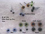 4mm Glass Eyes On Wire Pins ( 2 Eyes) Reptile Eye, Needle Felting Supplies, Decoy Carving, Lure Making, Doll Eyes, Custom Paint, Polymer Clay, Wire, Sewing