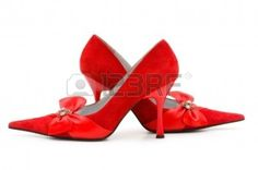 Woman Shoes Isolated On The White Background Stock Photo, Picture ...