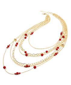 Another great find on #zulily! Ruby Mercer Street Layered Necklace #zulilyfinds