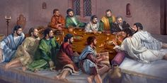 Jesus institutes the Lord's Evening Meal with his eleven faithful apostles
