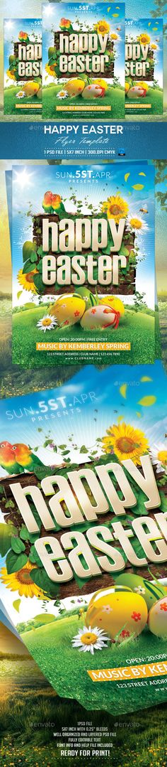 Easter Party Flyer Template Fonts-logos-icons Pinterest Best - easter flyer template