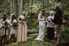 Forest wedding ceremony inspiration | Image by Kelly Brown