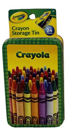 The Tin Box Company Crayola Crayon Storage Tin, Crayons Not Included Crayon Storage, Dingbat Fonts, Box Company, Small Storage, Halloween Projects, Tin Boxes, Hobbies And Crafts, Rainbow Colors, Colored Pencils
