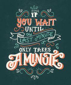 'Last Minute' Hand Lettered Poster Design on Behance