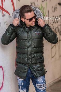 Geaca long OFF KAKI Winter Jackets, Geo, Fashion, Winter Coats, Moda, Winter Vest Outfits, Fashion Styles, Fashion Illustrations