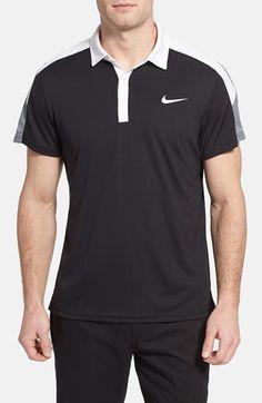 NIKE 'Team Court' Dri-Fit Tennis Polo. #nike #cloth #