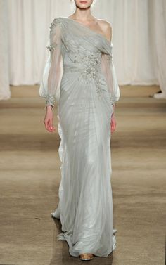Marchesa Drop Shoulder Tulle Gown -- to die for!